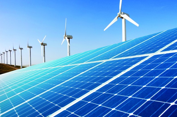 ветряк и солнечная панель